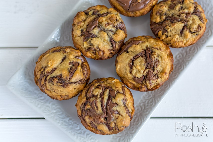 nutella banana bread muffins