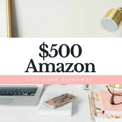 Here's Your Chance to Win a $500 Amazon Gift Card