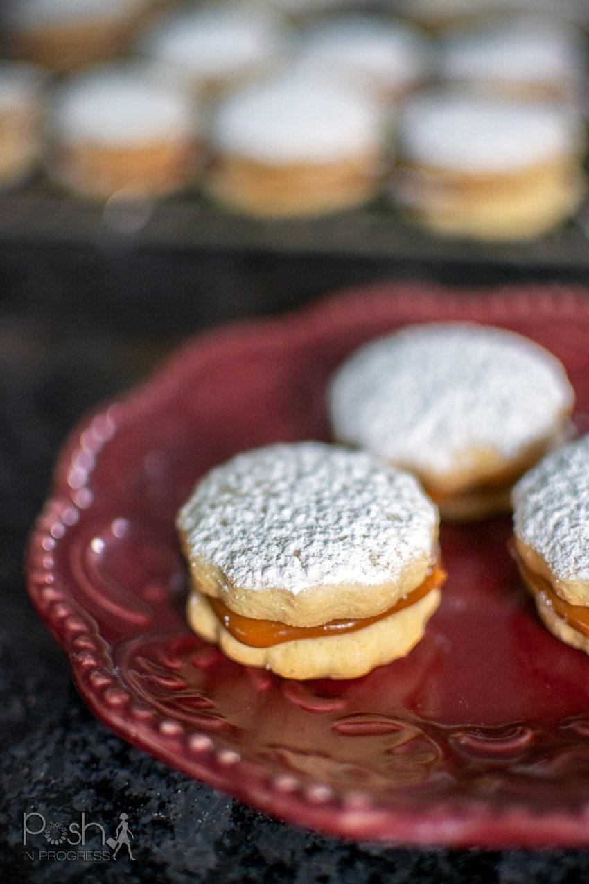 dulce de leche sandwich cookies - traditional Argentinian alfajores
