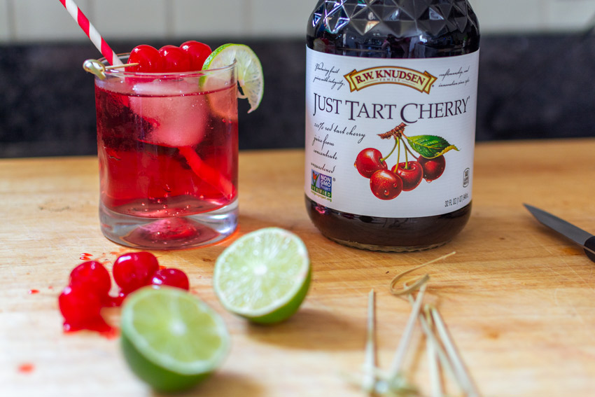 cherry lime spritz
