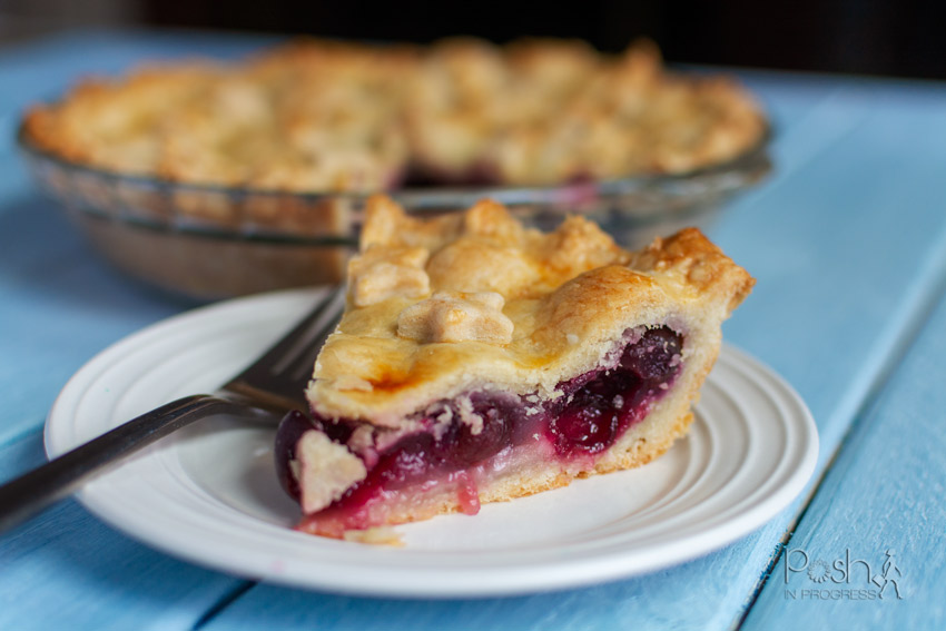 cherry pie with fresh cherries 2