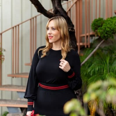 Why I'm Wearing This Black Long Sleeve Midi Dress For Valentine's Day