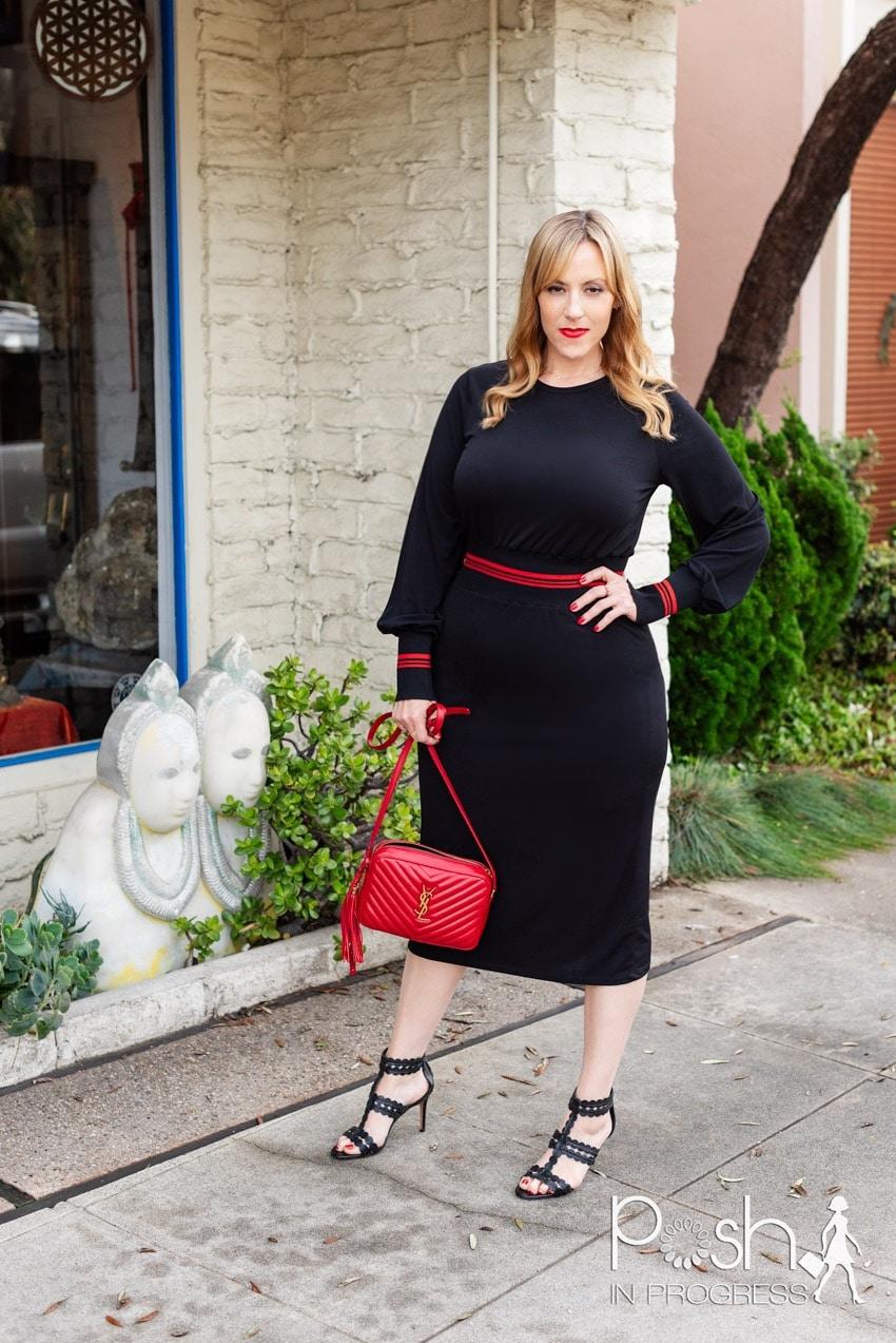 black long sleeve midi dress 2