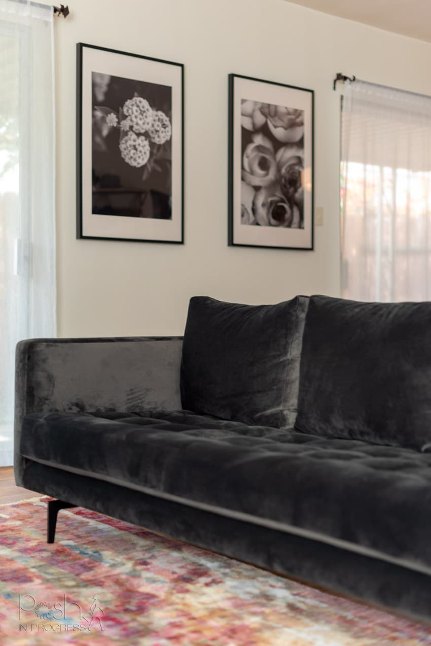 5 Reasons I Chose This Grey Velvet Couch For My New Living Room Posh In Progress
