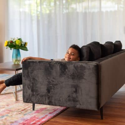 5 Reasons I Chose This Grey Velvet Couch for My New Living Room