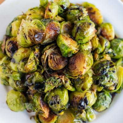 How to Make Brussels Sprouts with Balsamic Glaze in the Oven