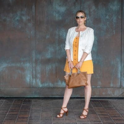 This is How to Style a Yellow Romper for Work