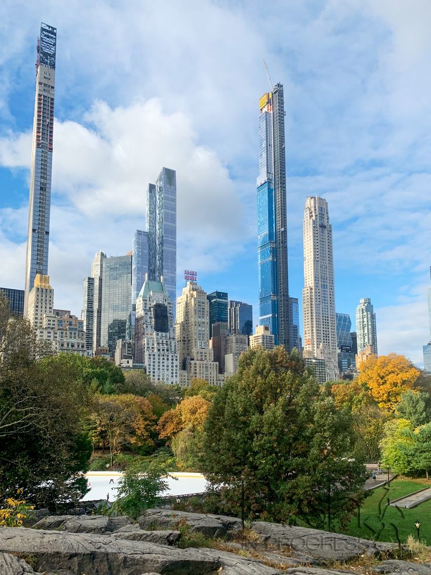central park in the fall 2