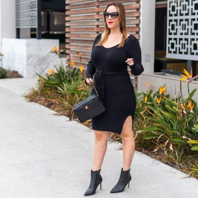 Here are 11 Cute Black Sweater Dresses Under $30