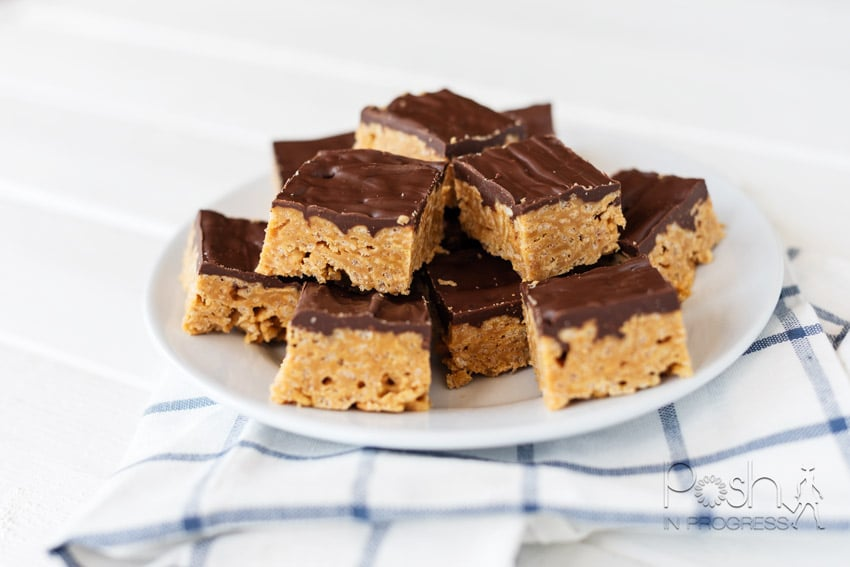 No Bake Special K Bars Recipe With Peanut Butter and Chocolate featured by top LA lifestyle blogger, Posh in Progress