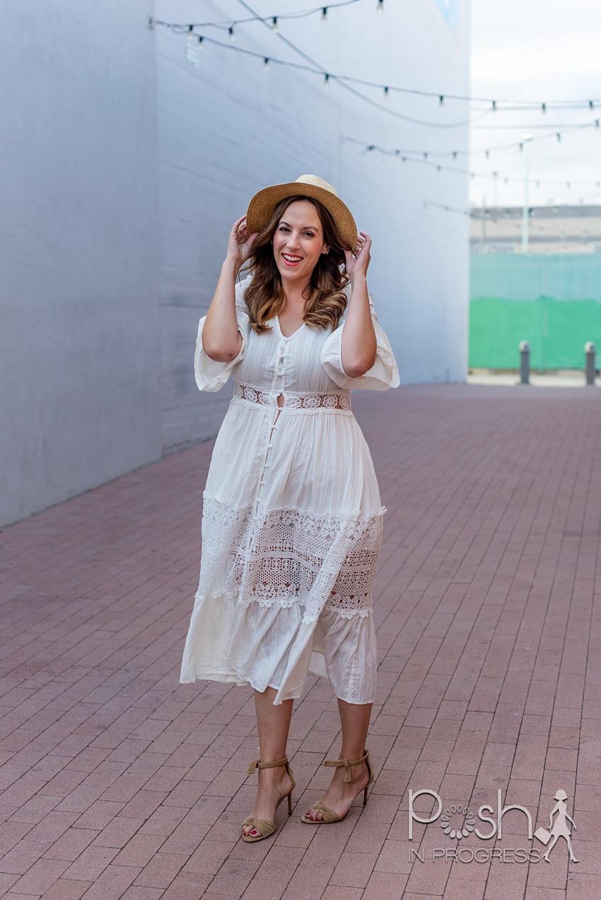white long sleeve midi dress 3