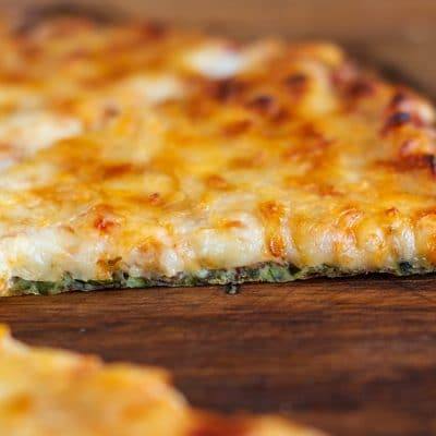 This is The Best Zucchini Crust Pizza