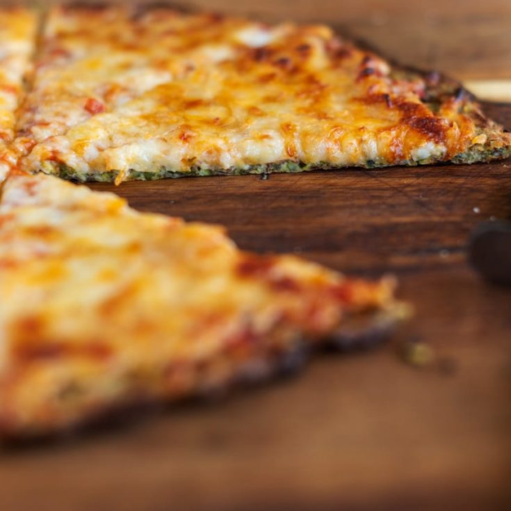 here is a great view of zucchini pizza crust