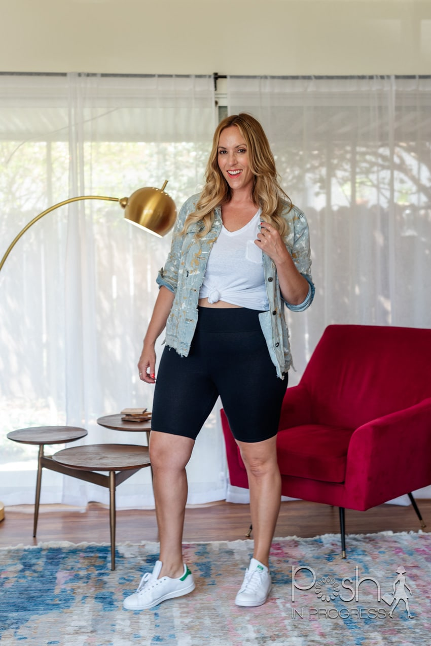how to style biker shorts 1