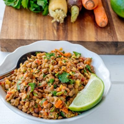 How to Make This Lentil Salad with Cilantro and Lime