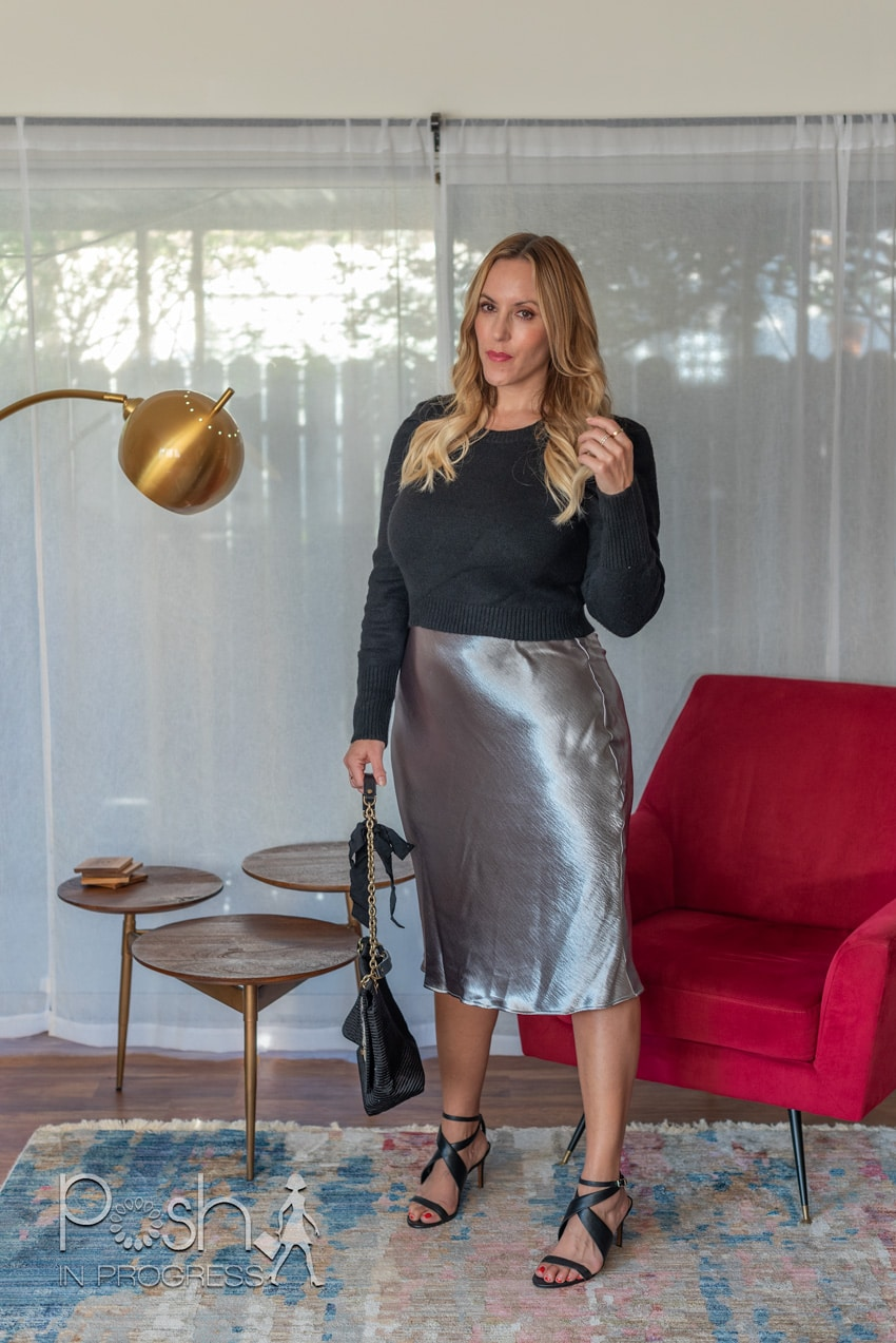 silver metallic skirt 2