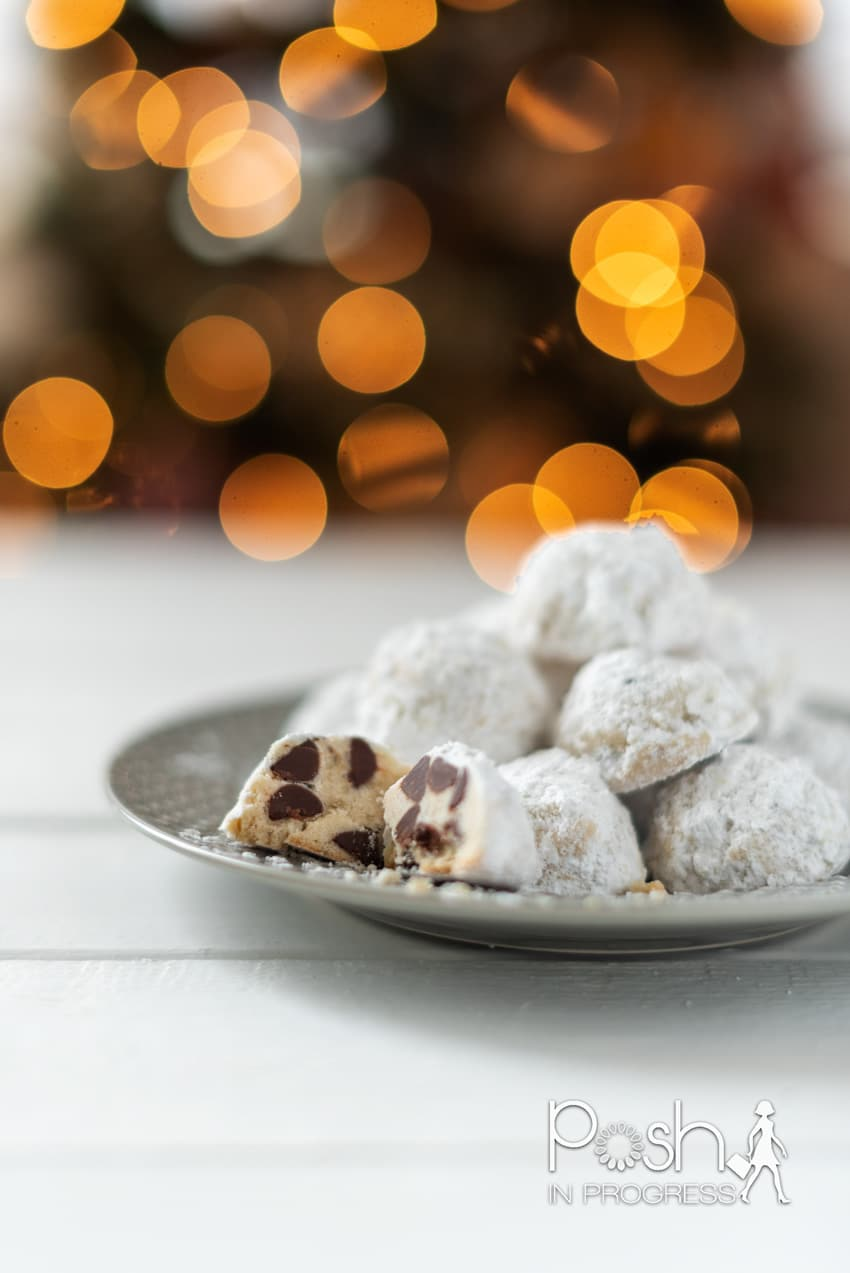 snowball cookies with chocolate chips 2