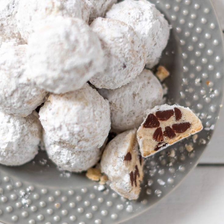 How to make these awesome chocolate chip snowball cookies.