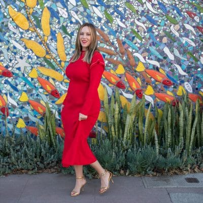 red midi dresses featured