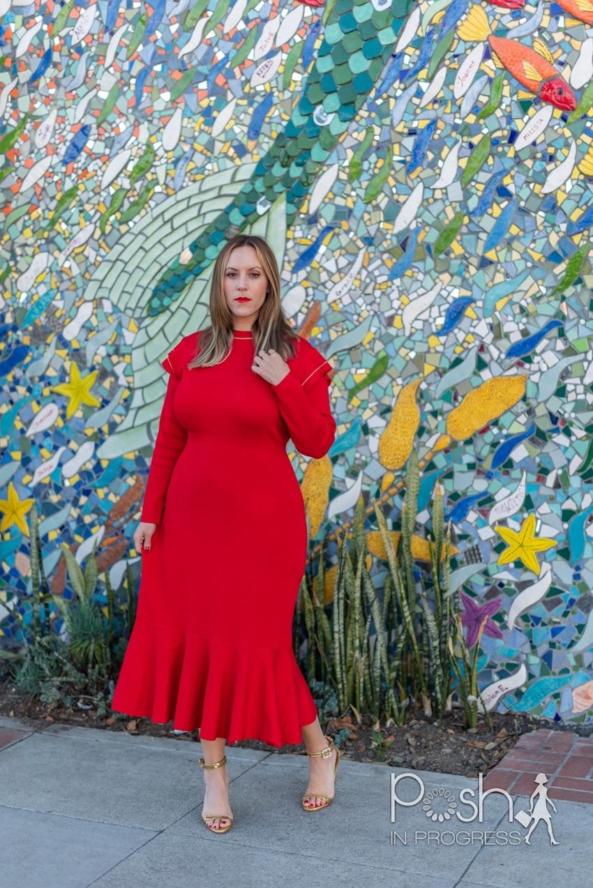 red midi dresses 2