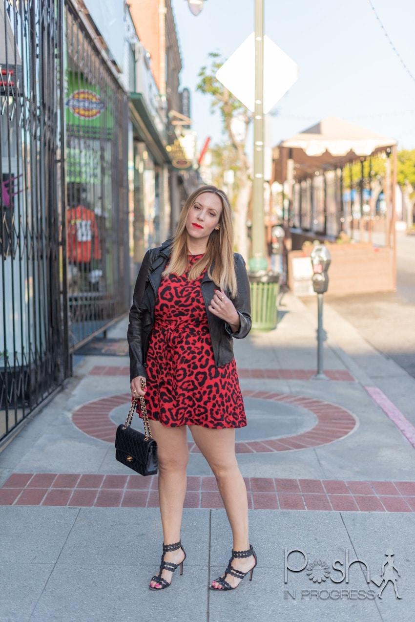 red animal print dress 2