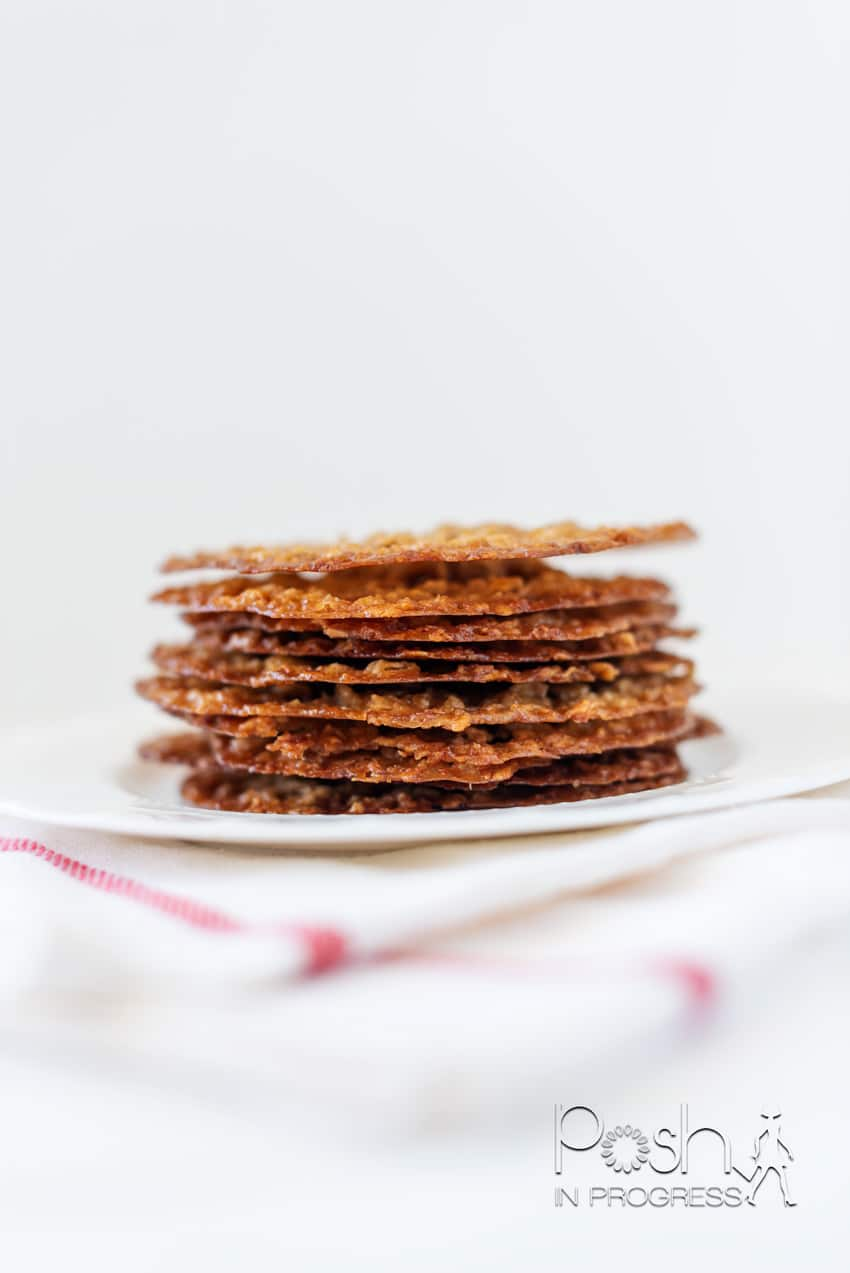 oatmeal lace cookies 1