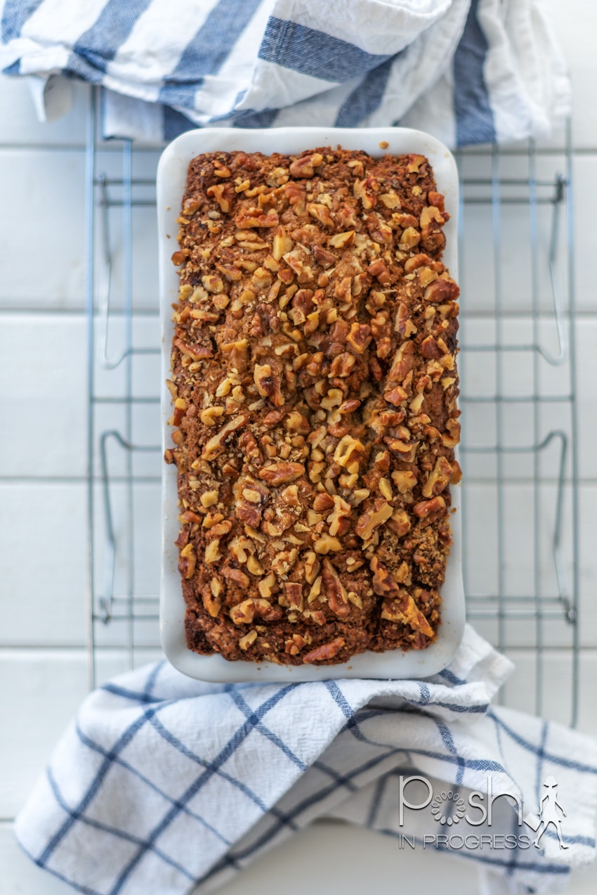 This loaf pan is so pretty! It makes the most moist banana bread ever!