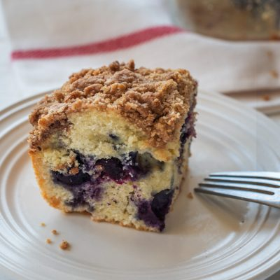 Easy Blueberry Streusel Coffee Cake Recipe by top LA lifestyle blogger, Posh in Progress