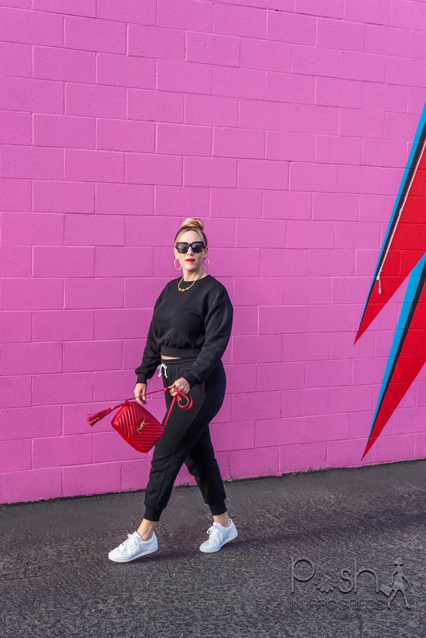 matching sweat suit for spring styled by top LA fashion blogger, Posh in Progress