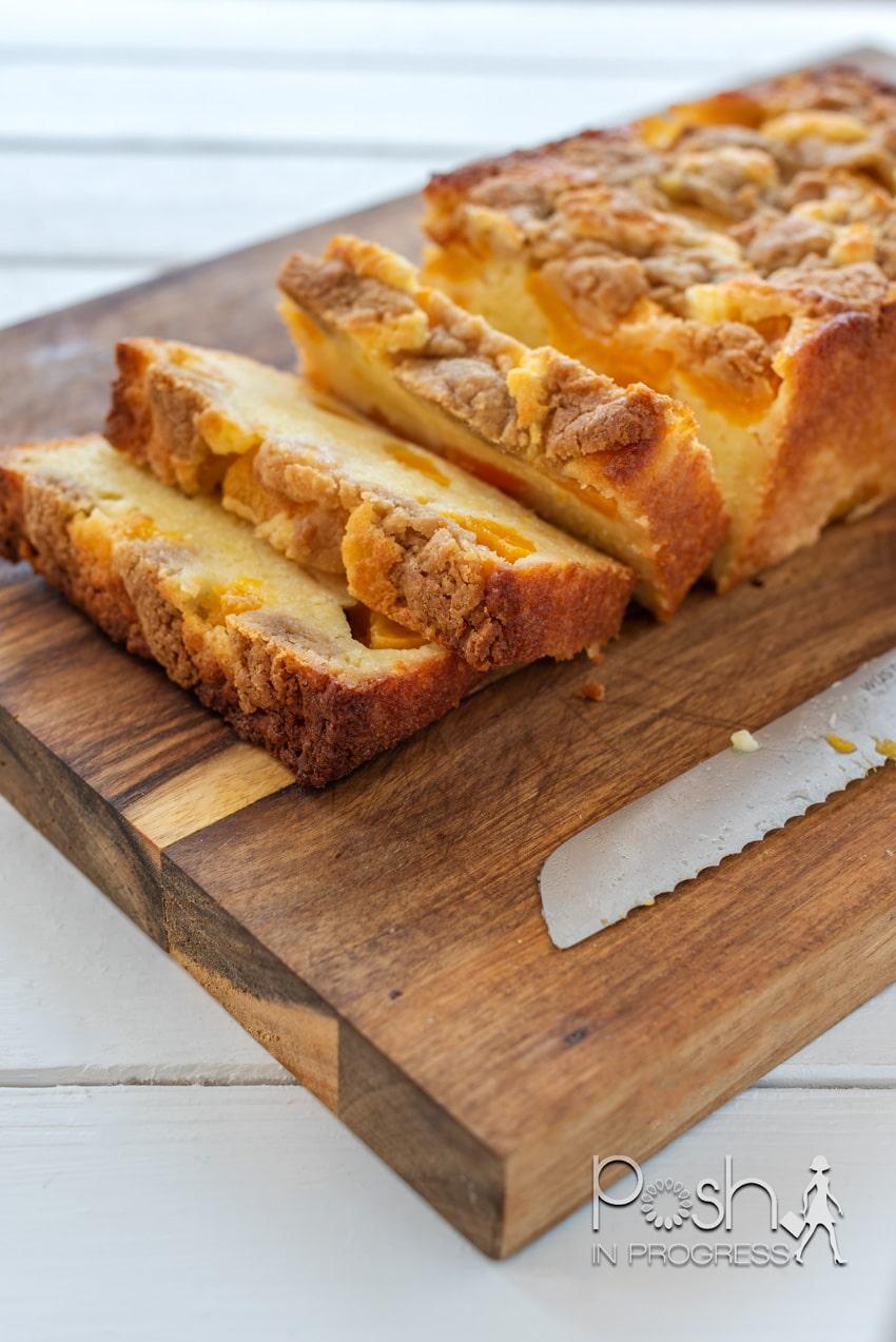 Peach Cobbler Pound Cake Recipe featured by top LA lifestyle blogger, Posh in Progress