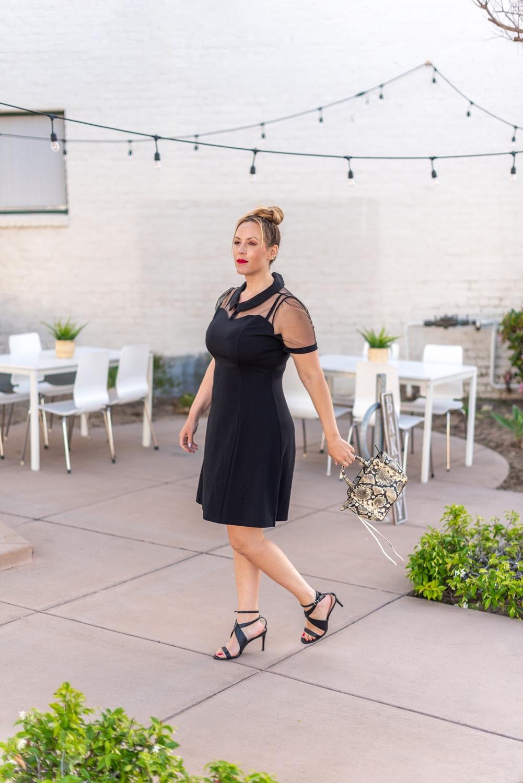 sheer top black dress 2