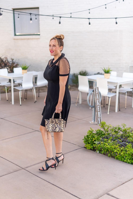 sheer top black dress 4