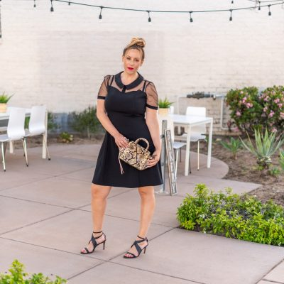 How to Style your Favorite Sheer Top Black Dress
