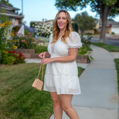 How to Style a Shein White Ruffle Hem Dress this Summer