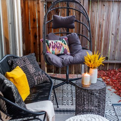This DIY Patio Makeover For a Small Space Turned Out Amazing