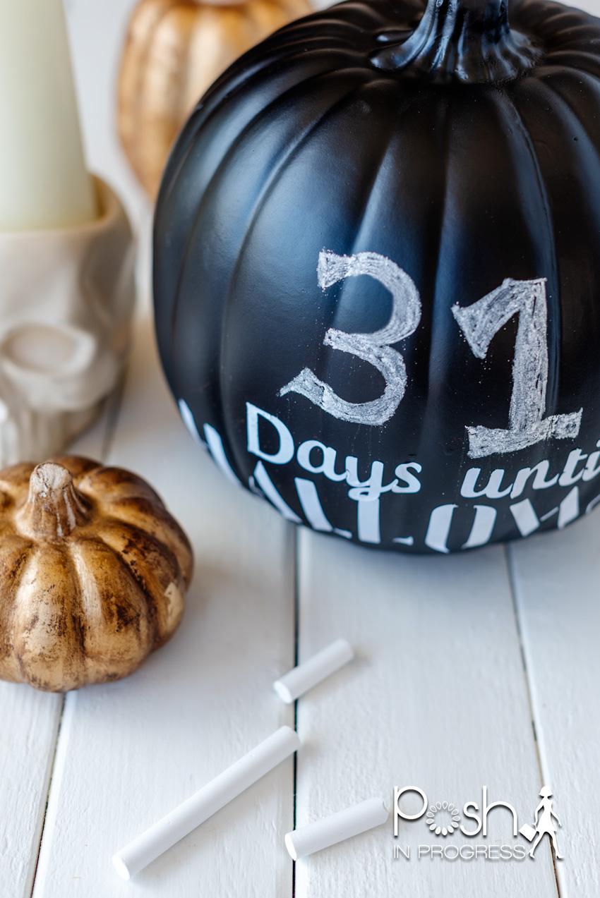 Days Until Halloween Pumpkin Craft