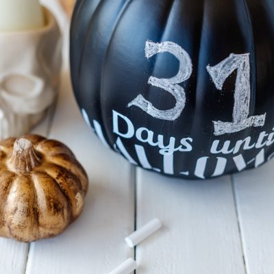 How to Make This Adorable Days Until Halloween Pumpkin Craft