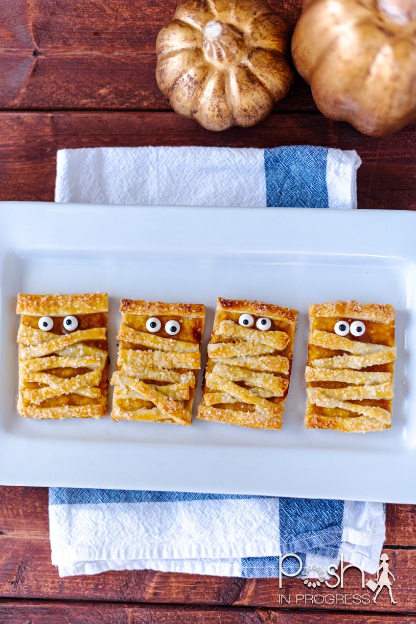 Halloween mummy cookies