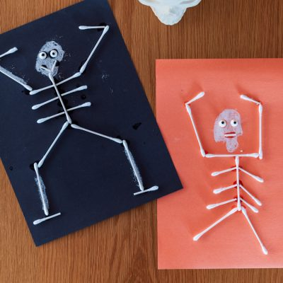 How to Make This Fun and Cute Q-Tip Skeleton Craft