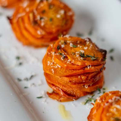 These Easy Sweet Potato Stacks Might Be The Perfect Holiday Side Dish