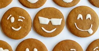 gingerbread emoji cookies