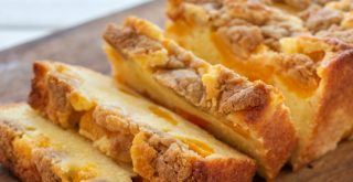 Peach Cobbler Pound Cake Recipe featured by top LA lifestyle blogger, Posh in Progress
