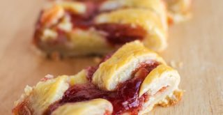 puff pastry and mascarpone cheese danish